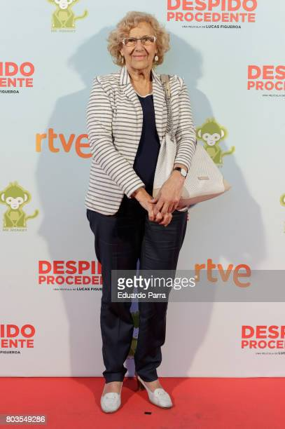 Mayor of Madrid Manuela Carmena attends the 'Despido procedente' photocall at Callao cinema on June 29 2017 in Madrid Spain