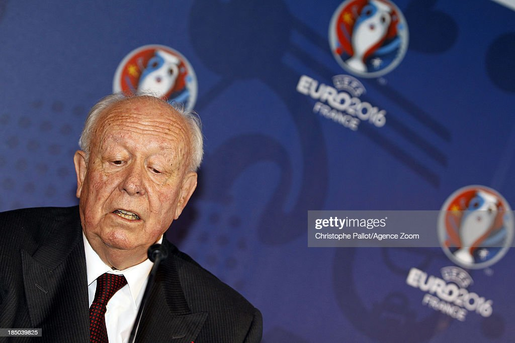 Mayor of Marseille Jean Claude Gaudin during the EURO 2016 Steering Committee Meeting, on October 17, 2013 in Marseille, France.