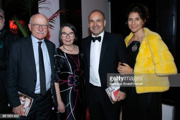 Mayor of Metz Dominique Gros his wife Philippe Journo and his wife attend the AROP Charity Gala with the representation of 'Carmen' at Opera Bastille...