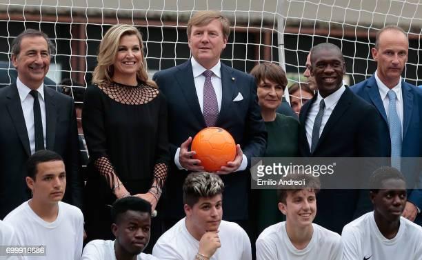 Mayor of Milan Giuseppe Sala Queen Maxima of the Netherlands King WillemAlexander of the Netherlands Clarence Seedorf and Roberto Samaden of FIGC...