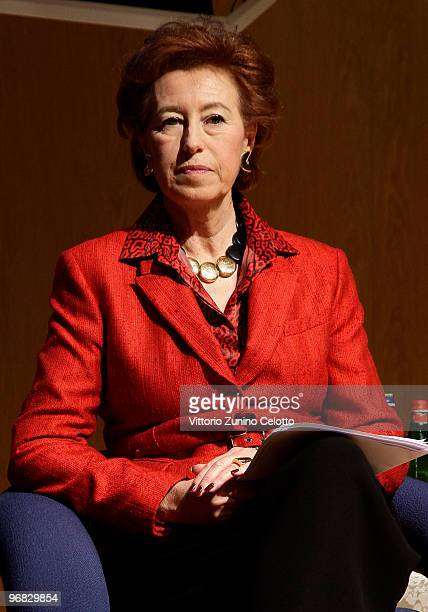 Mayor of Milan Letizia Moratti attends the Opening Conference of Bit 2010 International Tourism Exchange Fair on February 18 2010 in Milan Italy The...