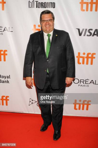 Mayor of Montreal Denis Coderre attends the 'Hochelaga Terre des Ames' premiere at Roy Thomson Hall on September 9 2017 in Toronto Canada