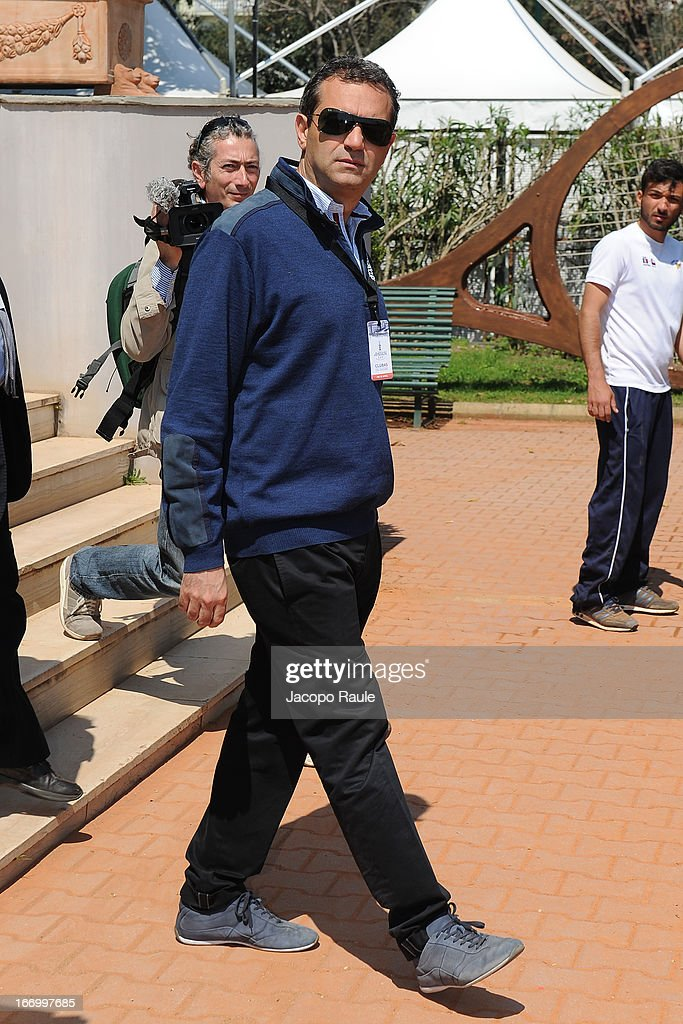 Mayor of Naples, Luigi de Magistris attends America's Cup World Series Naples on April 19, 2013 in Naples, Italy.