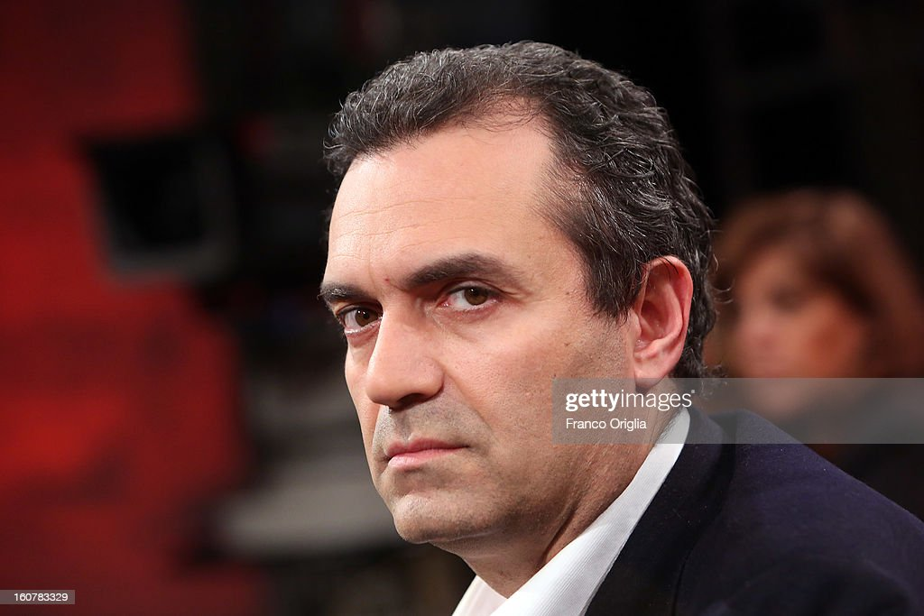 Mayor of Naples Luigi De Magistris attends 'Ballaro' TV talk show on February 5, 2013 in Rome, Italy. National Elections in Italy are scheduled for February 24.