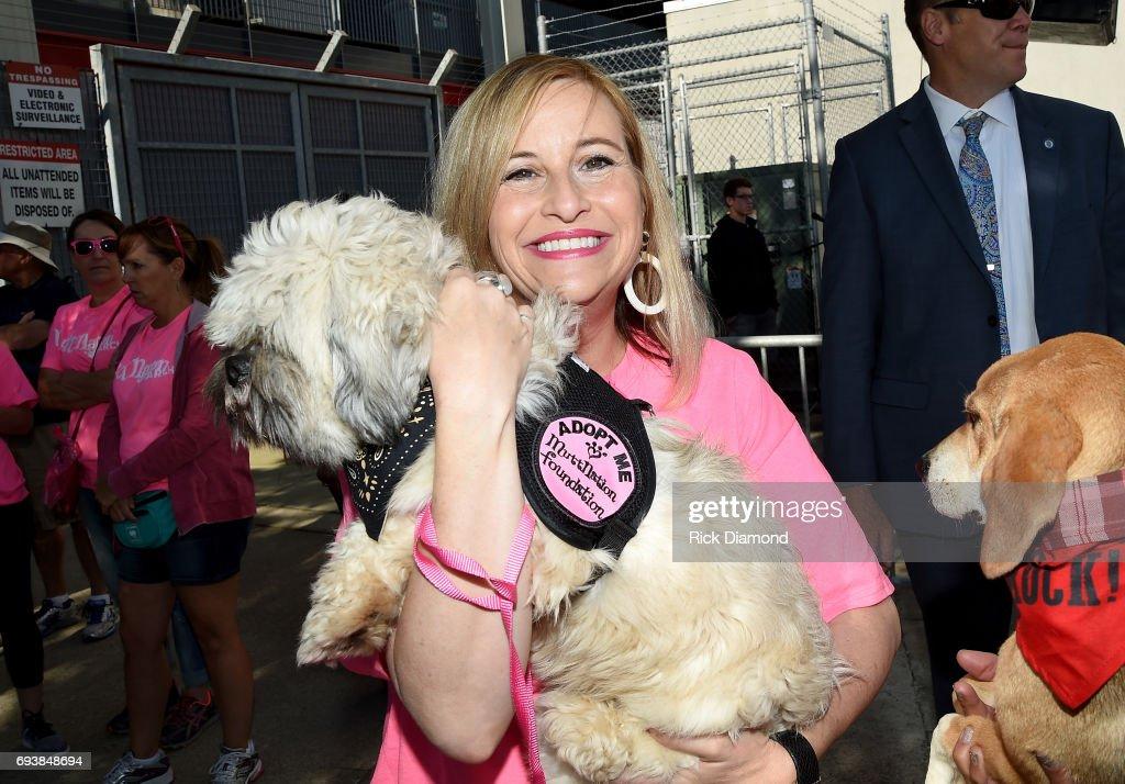 Mayor of Nashville Megan Barry attends the Miranda MuttNation March at Nissan Stadium on June 8, 2017 in Nashville, Tennessee.