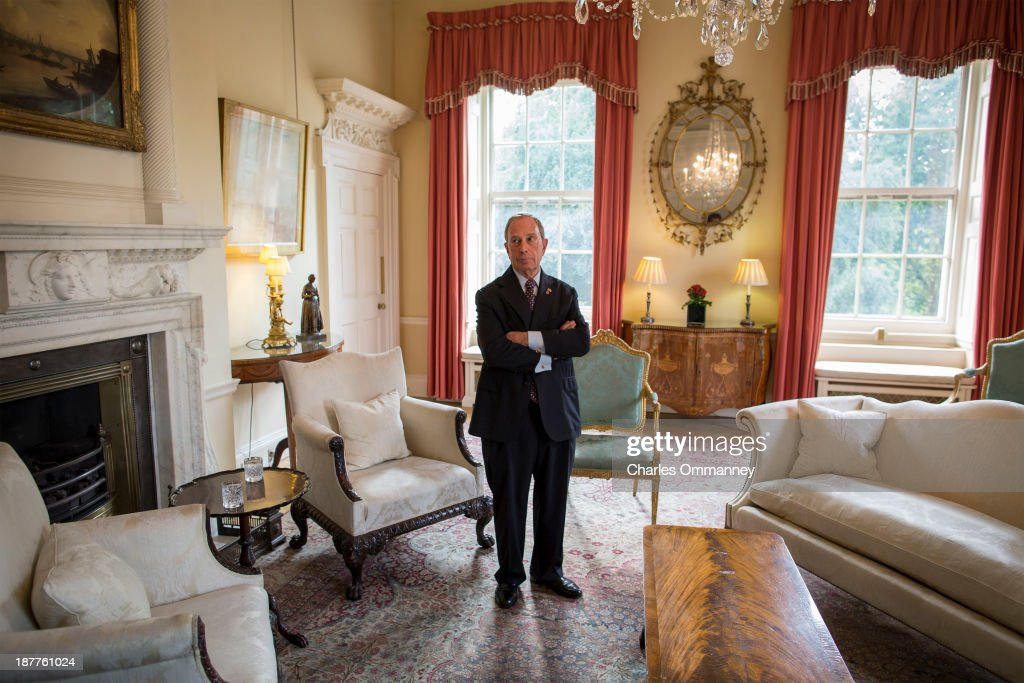 Mayor of New York and businessman <a gi-track='captionPersonalityLinkClicked' href=/galleries/search?phrase=Michael+Bloomberg&family=editorial&specificpeople=171685 ng-click='$event.stopPropagation()'>Michael Bloomberg</a> is photographed for Time Magazine on September 23 & 24, 2013, in Paris and London. Pictured: Mayor Bloomberg in an ornate room at 10 Downing Street, waiting to meet with British Prime minister David Cameron. ON WORLDWIDE EMBARGO UNTIL JANUARY 21, 2014.