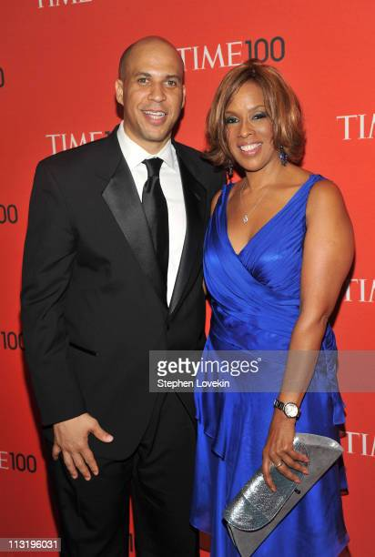 Mayor of Newark Cory Booker and Gayle King attend the TIME 100 Gala TIME'S 100 Most Influential People In The World at Frederick P Rose Hall Jazz at...