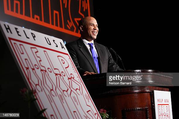 Mayor of Newark New Jersey Cory Booker attends the HELP USA Tribute Awards Dinner honoring HELP HEROES President Bill Clinton and Governor and Mrs...