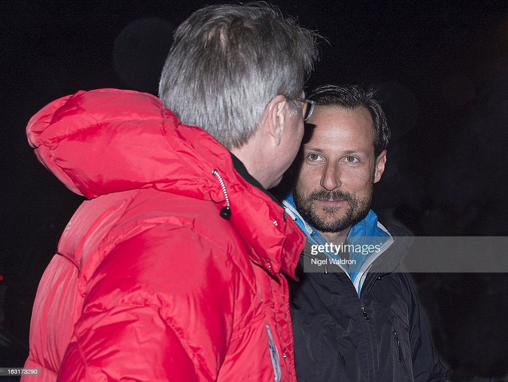 Mayor of Oslo <a gi-track='captionPersonalityLinkClicked' href=/galleries/search?phrase=Fabian+Stang&family=editorial&specificpeople=4669058 ng-click='$event.stopPropagation()'>Fabian Stang</a> and Prince Haakon Magnus of Norway attend the World Freestyle Ski Championships on March 5, 2013 in Oslo Norway.
