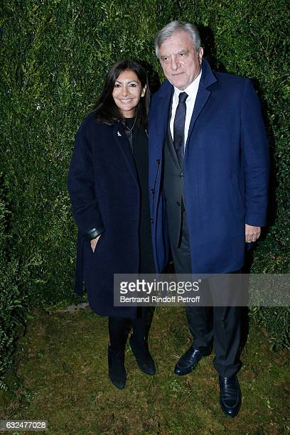Mayor of Paris Anne Hidalgo and CEO Dior Sidney Toledano attend the Christian Dior Haute Couture Spring Summer 2017 show as part of Paris Fashion...