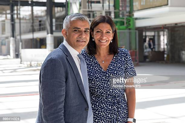 Mayor of Paris Anne Hidalgo and Mayor of London Sadiq Khan hold a joint press conference to present the partnership between Paris and London on...