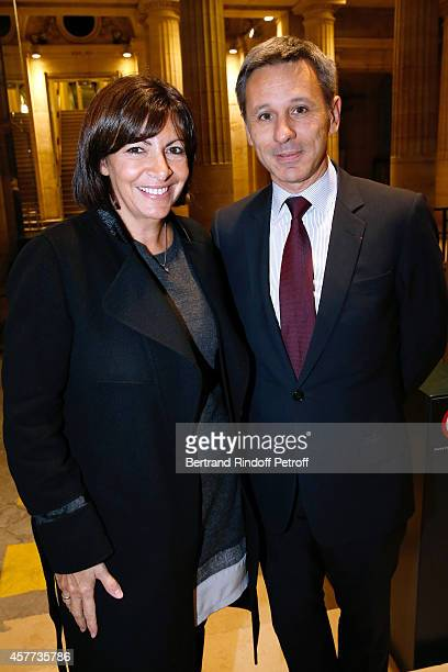 Mayor of Paris Anne Hidalgo and President of Monnaie de Paris attend the Monnaie De Paris Reopening Party with Opening of the McCarthy Exhibition on...