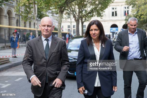 Mayor of Paris Anne Hidalgo attends Mireille Darc's Funeral at Eglise Saint Sulpice on September 1 2017 in Paris France French actress died aged of...