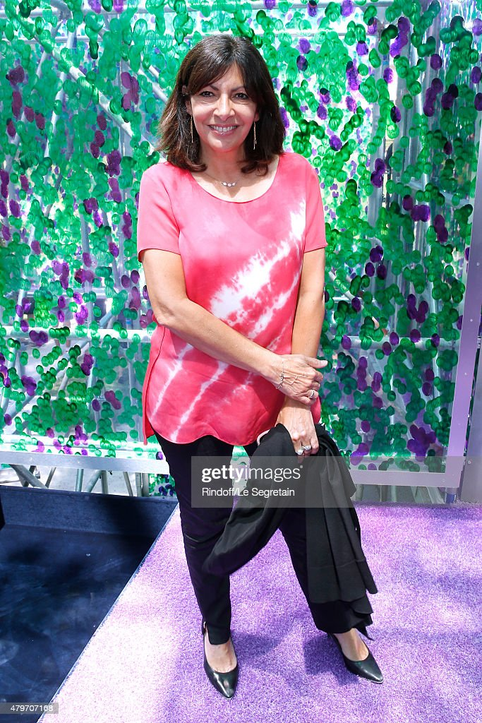 Mayor of Paris, Anne Hidalgo attends the Christian Dior show as part of Paris Fashion Week Haute Couture Fall/Winter 2015/2016 on July 6, 2015 in Paris, France.