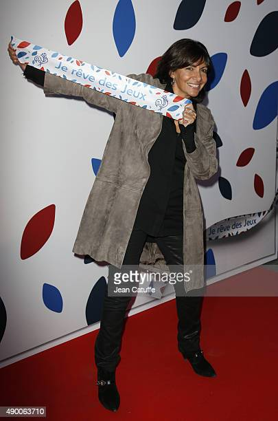 Mayor of Paris Anne Hidalgo attends the launch party for 'Je Reve Des Jeux' a campaign to promote Paris' bid for the Olympic Games in 2024 at 'Maison...