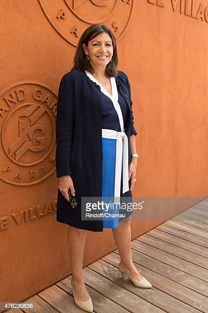Mayor of Paris Anne Hidalgo attends the Men Final of 2015 Roland Garros French Tennis Open Day Fithteen on June 7 2015 in Paris France