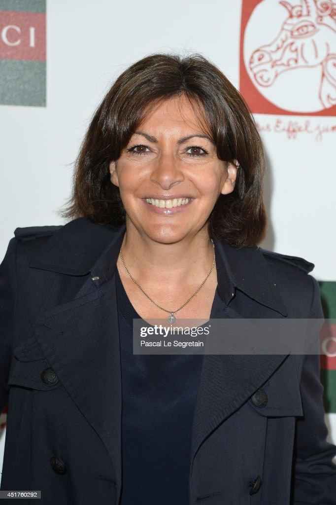 Mayor of Paris <a gi-track='captionPersonalityLinkClicked' href=/galleries/search?phrase=Anne+Hidalgo&family=editorial&specificpeople=590989 ng-click='$event.stopPropagation()'>Anne Hidalgo</a> attends the Paris Eiffel Jumping presented by Gucci at Champ-de-Mars on July 6, 2014 in Paris, France.