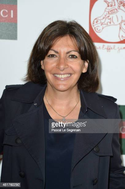 Mayor of Paris Anne Hidalgo attends the Paris Eiffel Jumping presented by Gucci at ChampdeMars on July 6 2014 in Paris France
