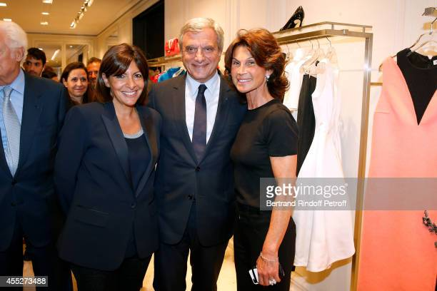 Mayor of Paris Anne Hidalgo CEO Dior Sidney Toledano and Director of Dior Avenue Montaigne's boutique Sylvie Rousseau attend the 'Promenade pour un...