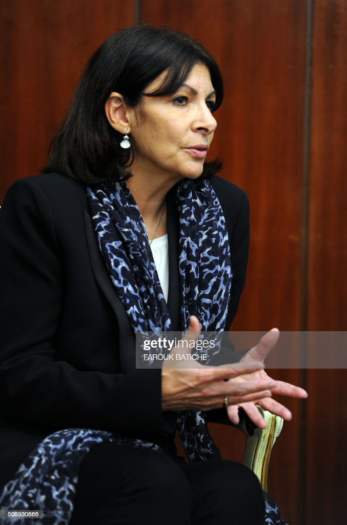 Mayor of Paris Anne Hidalgo meets with Algerian Interior and Territorial Collectivities Minister on February 7, 2016 in the capital Algiers. Hidalgo met Algerian Interior Minister Noureddine Bedoui as she started a two-day work visit in Algeria. / AFP / Farouk Batiche