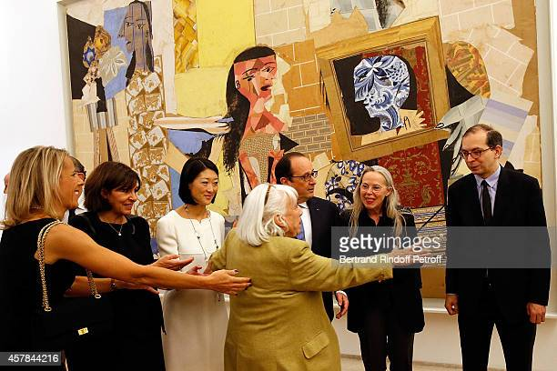 Mayor of Paris Anne Hidalgo Ministre of Culture Fleur Pellerin Maya Widmaier Picasso daughter of Pablo Picasso French President Francois Hollande...