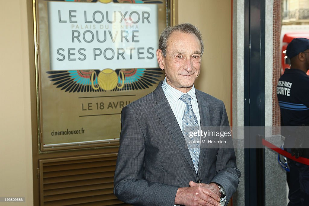 Mayor of Paris <a gi-track='captionPersonalityLinkClicked' href=/galleries/search?phrase=Bertrand+Delanoe&family=editorial&specificpeople=206163 ng-click='$event.stopPropagation()'>Bertrand Delanoe</a> attends the Louxor reopening at Paris-Louxor on April 17, 2013 in Paris, France.