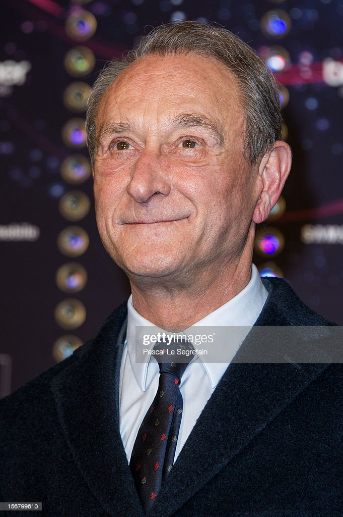 Mayor of Paris Bertrand Delanoe attends the switching on of the Christmas lights along the Champs Elysees on November 21, 2012 in Paris, France.