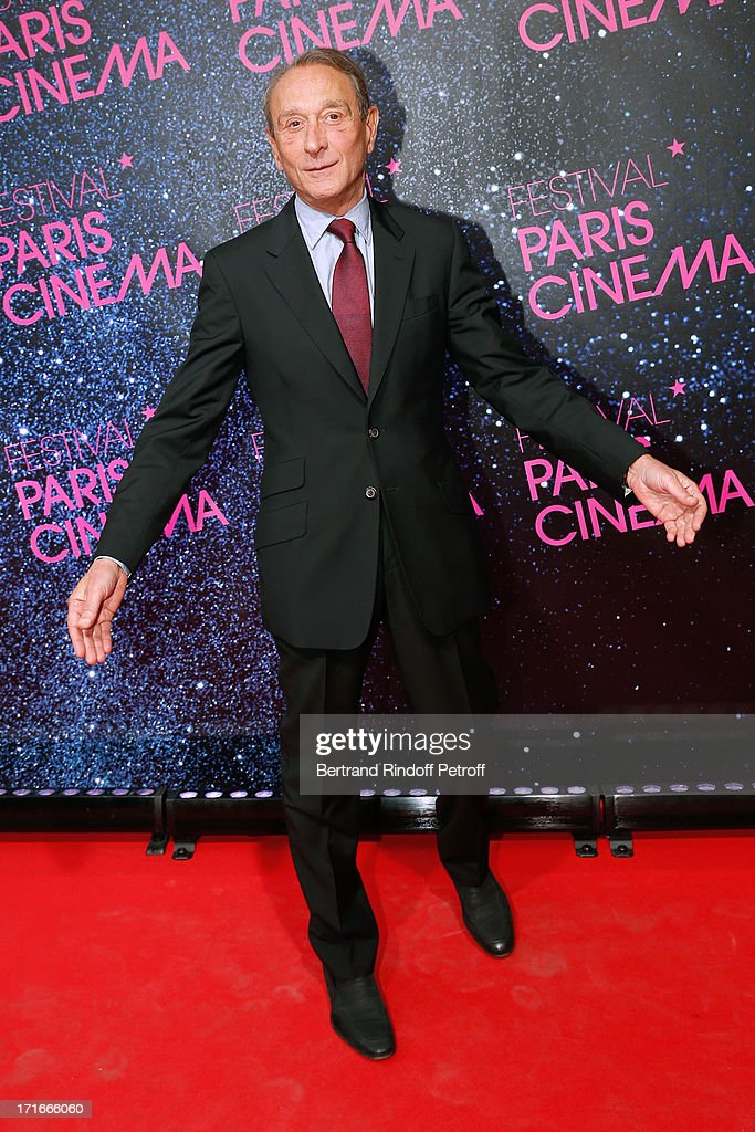 Mayor of Paris <a gi-track='captionPersonalityLinkClicked' href=/galleries/search?phrase=Bertrand+Delanoe&family=editorial&specificpeople=206163 ng-click='$event.stopPropagation()'>Bertrand Delanoe</a> poses at Festival Paris Cinema - Opening night and premiere of 'La Venus a la fourrure' held at Gaumont Capucines on June 27, 2013 in Paris, France.