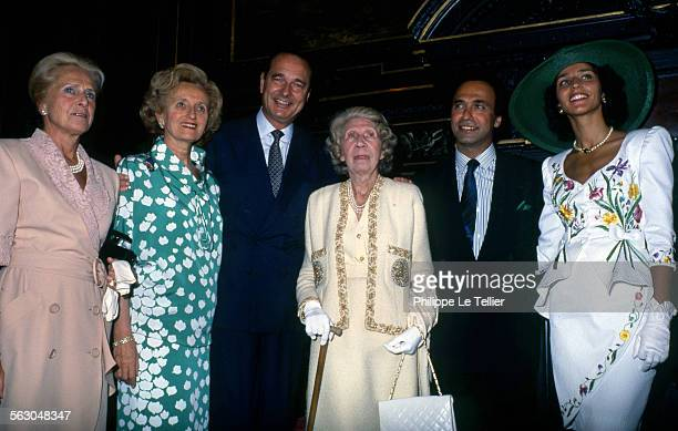 Mayor of Paris Jacques Chirac conducts marriage between Olivier Dassault and Carole daughter of Georges Tranchant Mme Serge Dassault Bernadette...