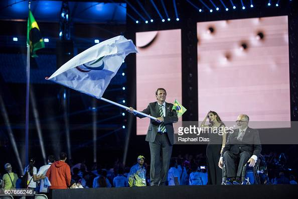 Mayor of Rio de Janeiro Eduardo Paes and the President of the International Paralympic Committe Sir Philip Craven during Rio 2016 Paralympics Games...