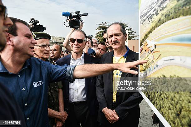 Mayor of Rio de Janeiro Eduardo Paes Brazilian army commandar General Enzo Martins Peri President of the Brazilian Olympic Committee Carlos Nuzman...