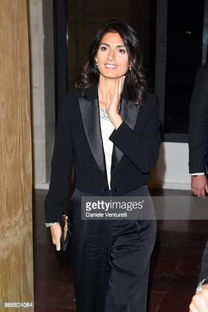 Mayor of Rome Virginia Raggi attends 'Fendi Studios' exhibition opening night during the 12th Rome Film Fest at Palazzo Della Civilta' Italiana on...