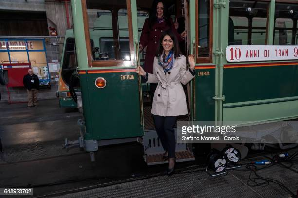Mayor of Rome Virginia Raggi attends the campaign dedicated to the theme 'don't be recognized pay the ticket' at the offices of Atac on March 6 2017...