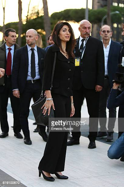 Mayor of Rome Virginia Raggi attends the Congress Centre 'Nuvola' opening at Roma Eur on October 29 2016 in Rome Italy