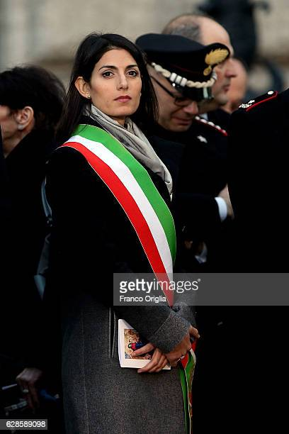Mayor of Rome Virginia Raggi attends the solemnity of the Immaculate Conception celebrated by Pope Francis on December 8 2016 in Rome Italy Pope...