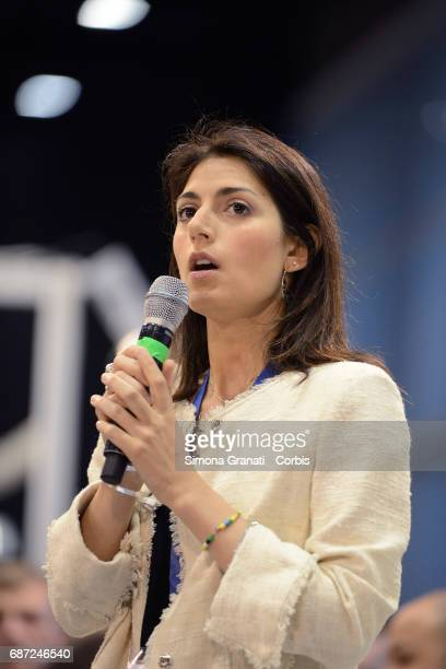 Mayor of Rome Virginia Raggi during the inauguration of the Public Administration Forum at the Convention Center La Nuvola on May 23 2017 in Rome...