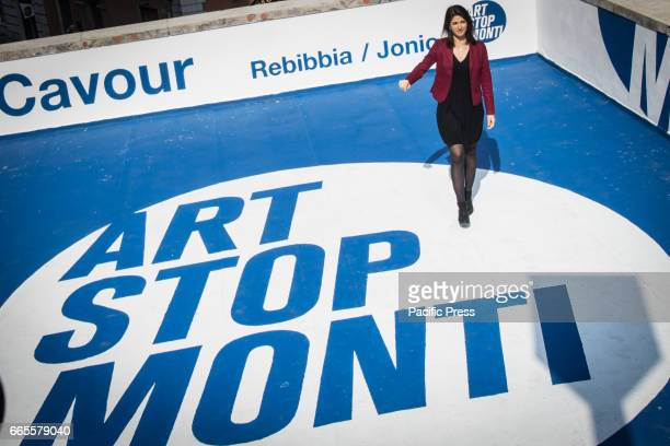 Mayor of Rome Virginia Raggi inaugurates the initiative 'Art Stop Monti' the Cavour metro station a development project of metro stations which will...
