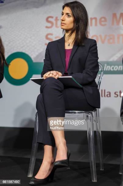 Mayor of Rome Virginia Raggi opens a station at San Giovanni on Rome's new Metro C line whose construction has been held up after Roman artefacts...