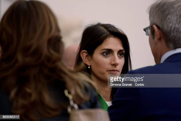 Mayor of Rome Virginia Raggi participates in the National Family Conference on September 28 2017 in Rome Italy First day of the Third National Family...