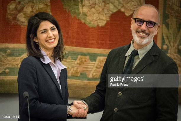 Mayor of Rome Virginia Rays presents to the press the new councilor for Urban Planning of the City of Rome Luca Montuori
