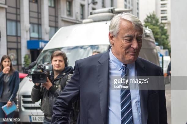Mayor of the 16th arrondissement of Paris and rightwing Les Republicains party member Claude Goasguen arrives at the Headquarters for a meeting to...