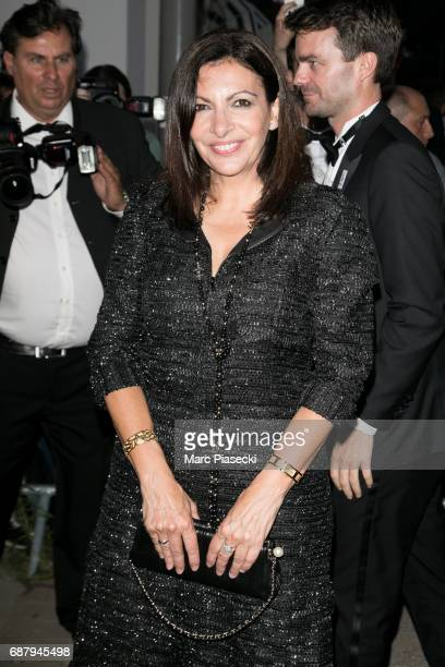Mayor of the city of Paris Anne Hidalgo is spotted during the 70th annual Cannes Film Festival at the 'Vanity Fair CHANEL' dinner at Tetou restaurant...