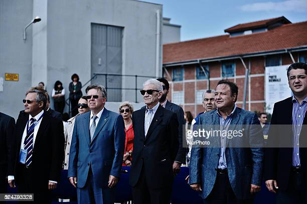 Mayor of Thessaloniki Yannis Boutaris and Russian officials attend the ceremony The Olympic Flame of the SOCHI 2014 winter olympics arrived today...