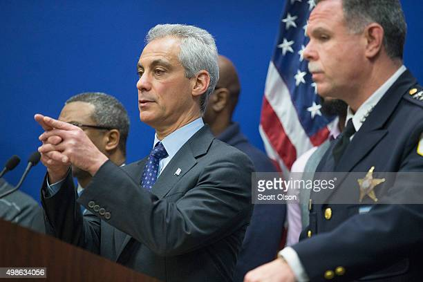 Mayor Rahm Emanuel and Chicago Police Superintendent Garry McCarthy hold a press conference to address the arrest of Chicago Police officer Jason Van...