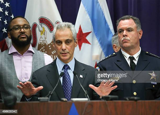 Mayor Rahm Emanuel and Chicago Police Supt Garry McCarthy hold a news conference at Chicago Police Headquarters in Chicago on Tuesday Nov 24 2015...