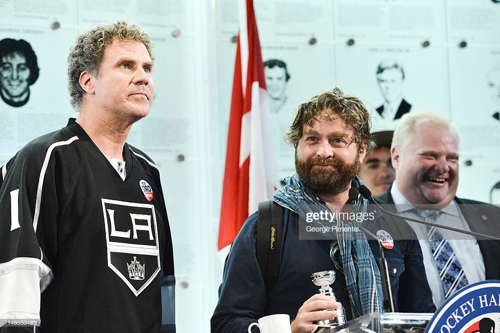 "Will Ferrell And Zach Galifianakis Visit the Hockey Hall Of Fame To Promote Their New Movie ""The Campaign"""