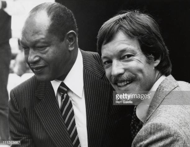 Mayor Tom Bradley and Richard Chamberlain during Los Angeles Actors Theater Performing Arts Center Opening at Los Angeles Actors Theater Performing...