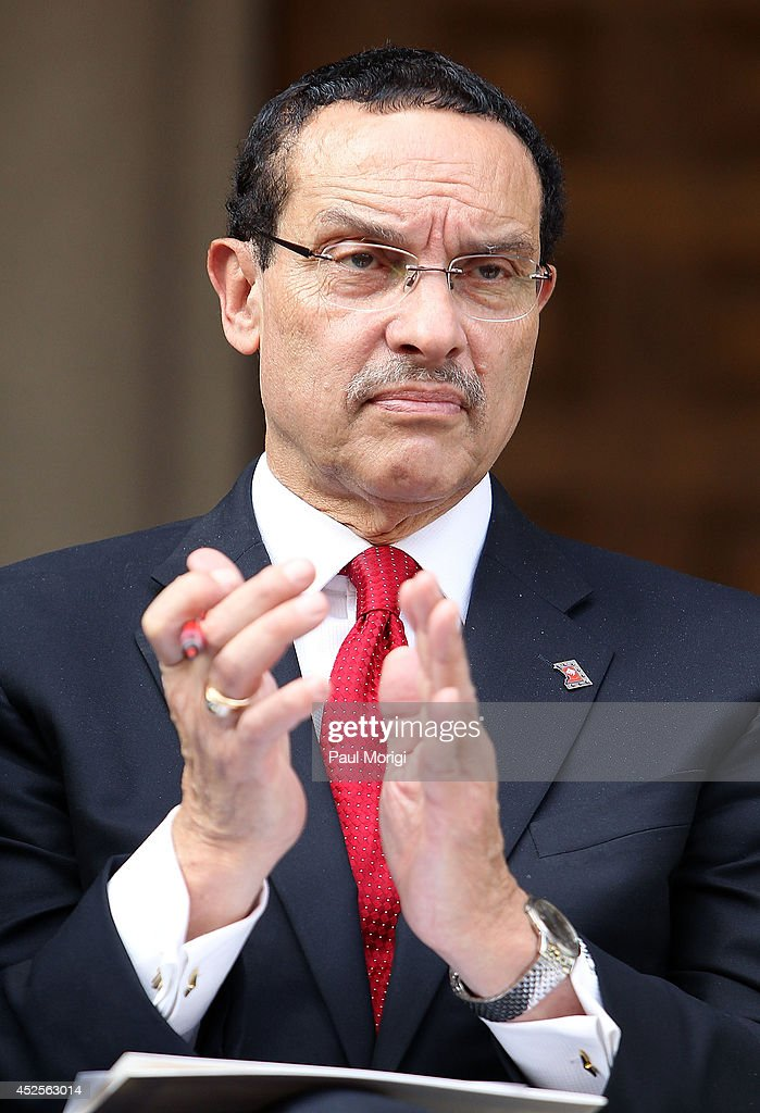 DC Mayor Vincent Gray attends the Trump International Hotel Washington, D.C Groundbreaking Ceremony at Old Post Office on July 23, 2014 in Washington, DC.
