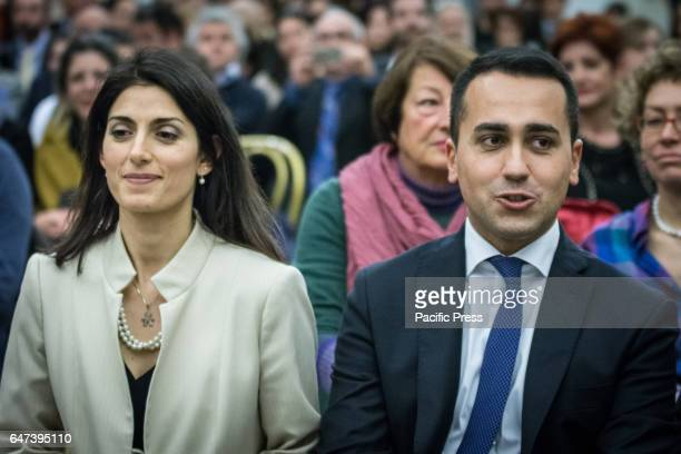 Mayor Virginia Raggi and the Vice President of the Chamber of Deputies Luigi Di Maio attended a concert at the Capitol to promote on the occasion of...