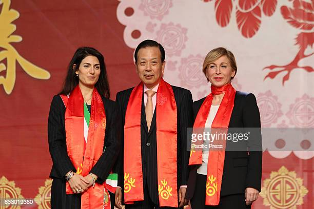 Mayor Virginia Raggi attended the Chinese New Year in Rome parades and martial arts